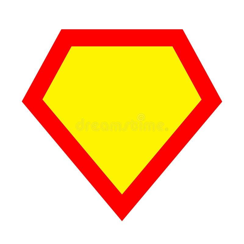 Plantilla del logotipo del super héroe Rojo, amarillo libre illustration