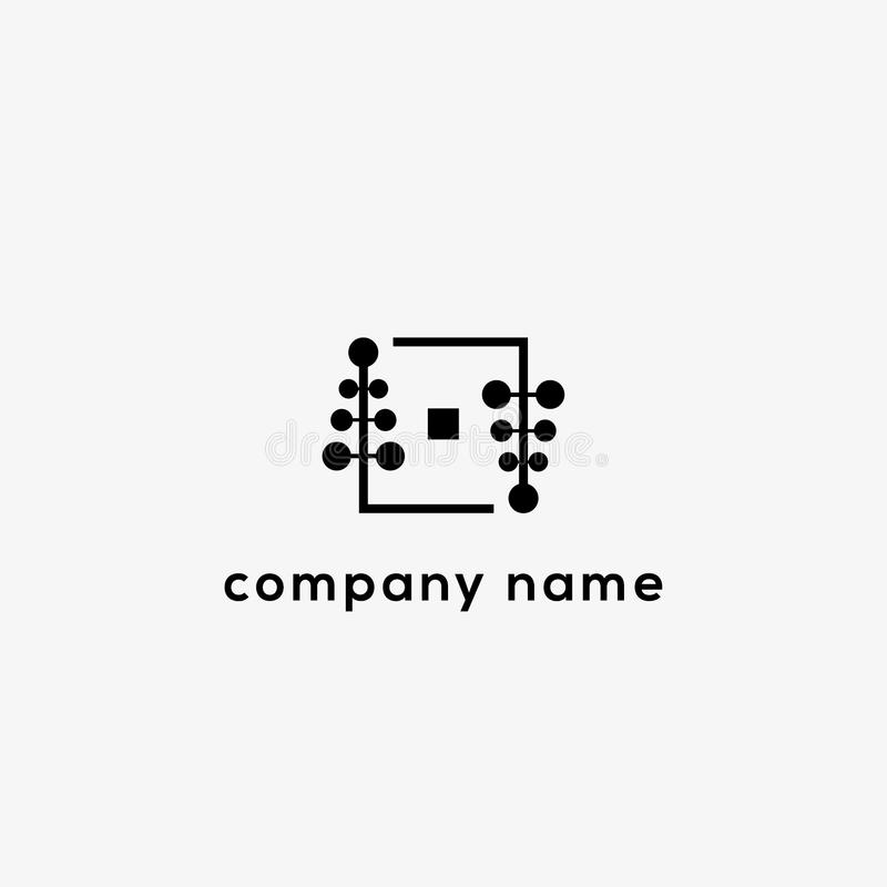 Plantilla del logotipo del vector de la marca de la moda stock de ilustración