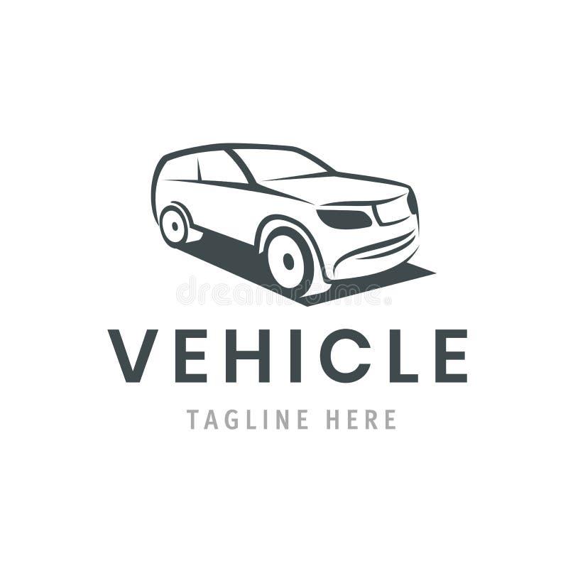 Plantilla del logotipo del vehículo Icono del coche para el diseño de negocio Alquiler, reparación, concepto del garaje de la tie stock de ilustración