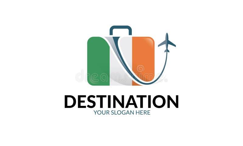 Plantilla del logotipo del viaje ilustración del vector