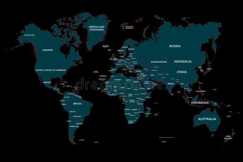 Plantilla del mapa de la tierra stock de ilustración