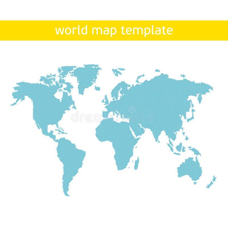Plantilla del mapa del mundo ilustración del vector