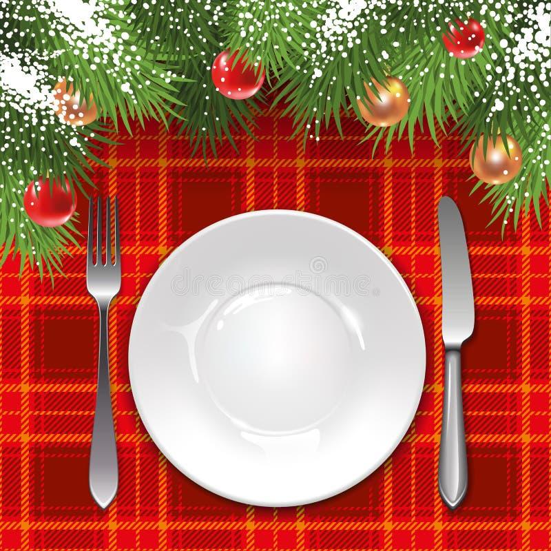 Plantilla Del Menú De La Navidad Ilustración del Vector ...