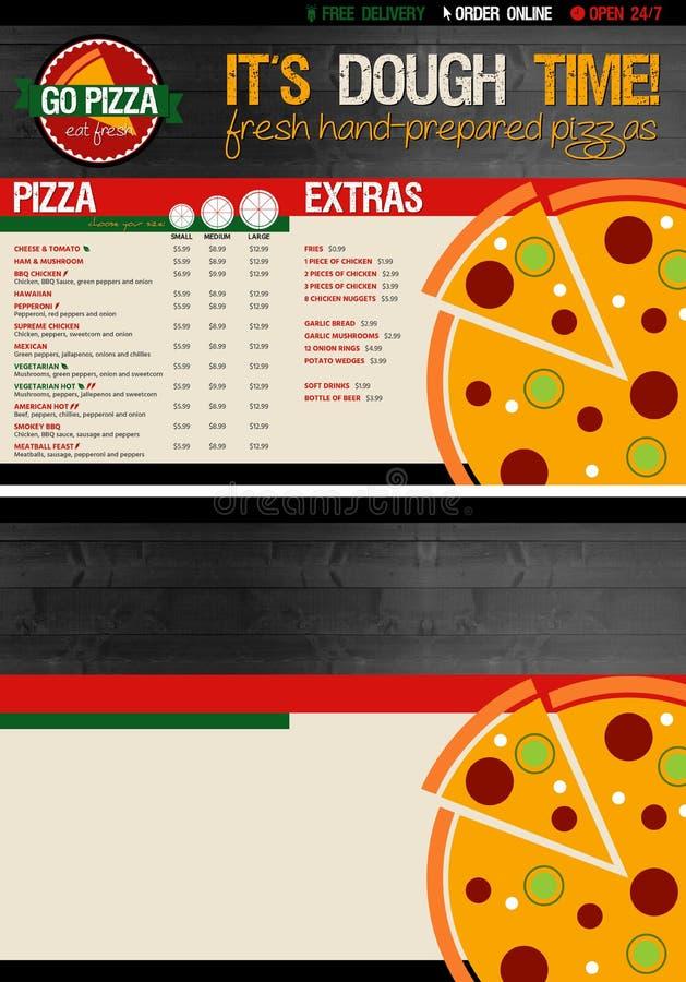 Plantilla Del Menú De La Pizza Stock de ilustración - Ilustración de ...