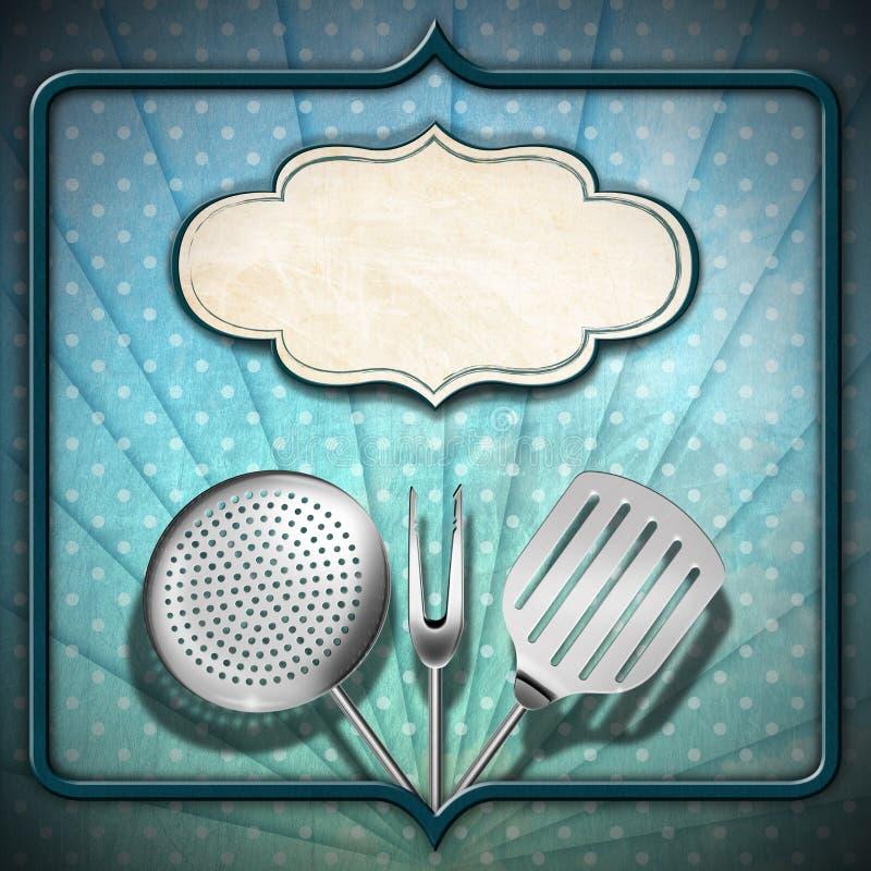 Plantilla del menú del vintage ilustración del vector