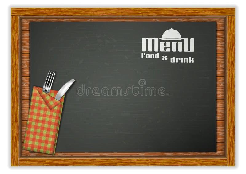 Plantilla del menú del restaurante stock de ilustración