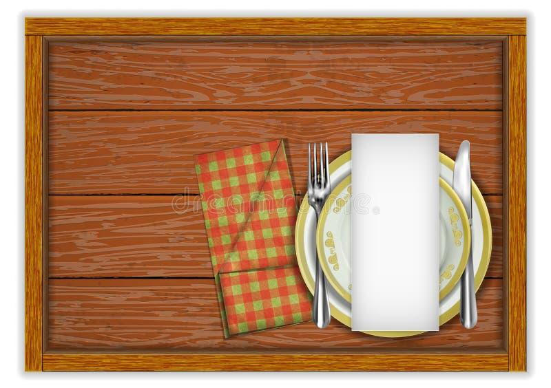 Plantilla del menú del restaurante ilustración del vector