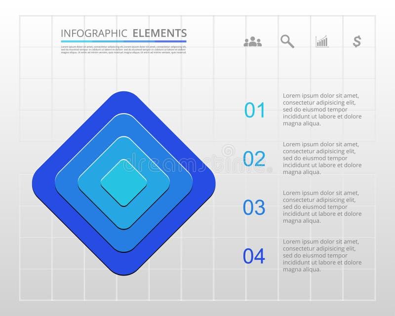 Plantilla del negocio del vector para la presentación ilustración del vector