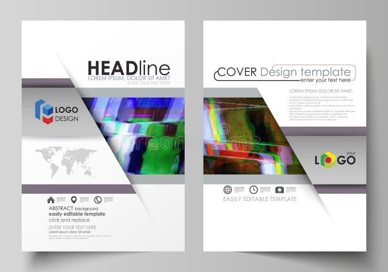 Plantilla del negocio para el folleto, aviador, informe Cubra el diseño, disposición abstracta del vector de tamaño A4 Fondo de G ilustración del vector