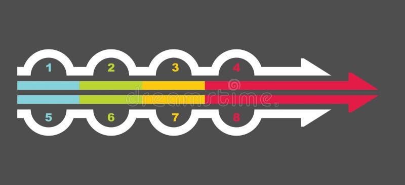 Plantilla del organigrama ilustración del vector