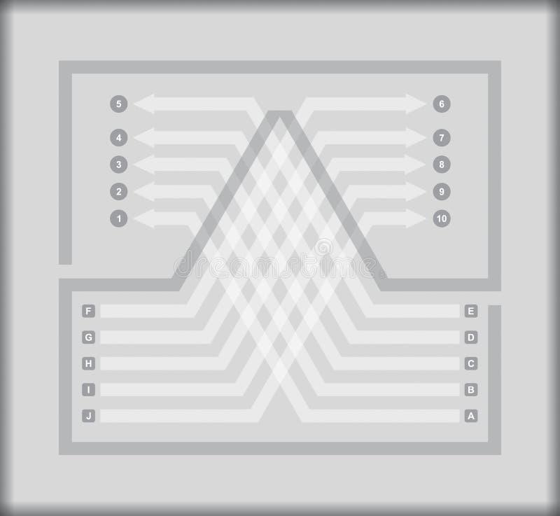 Plantilla del organigrama libre illustration