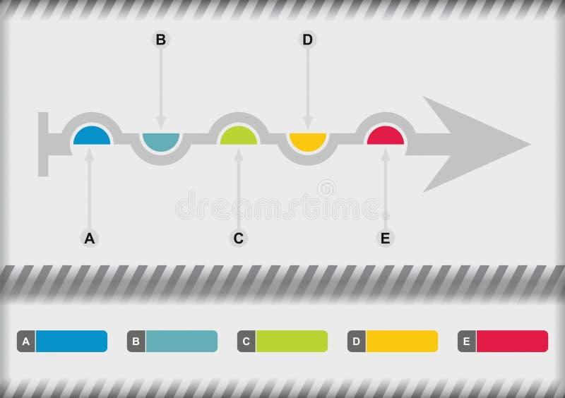 Plantilla del organigrama stock de ilustración
