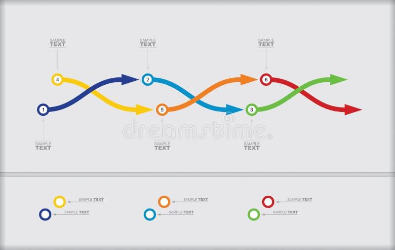 Plantilla del organigrama del vector stock de ilustración