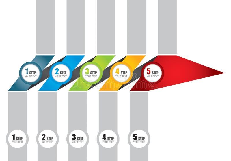 Plantilla del organigrama del vector libre illustration