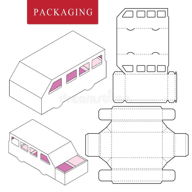 plantilla del paquete o libre illustration