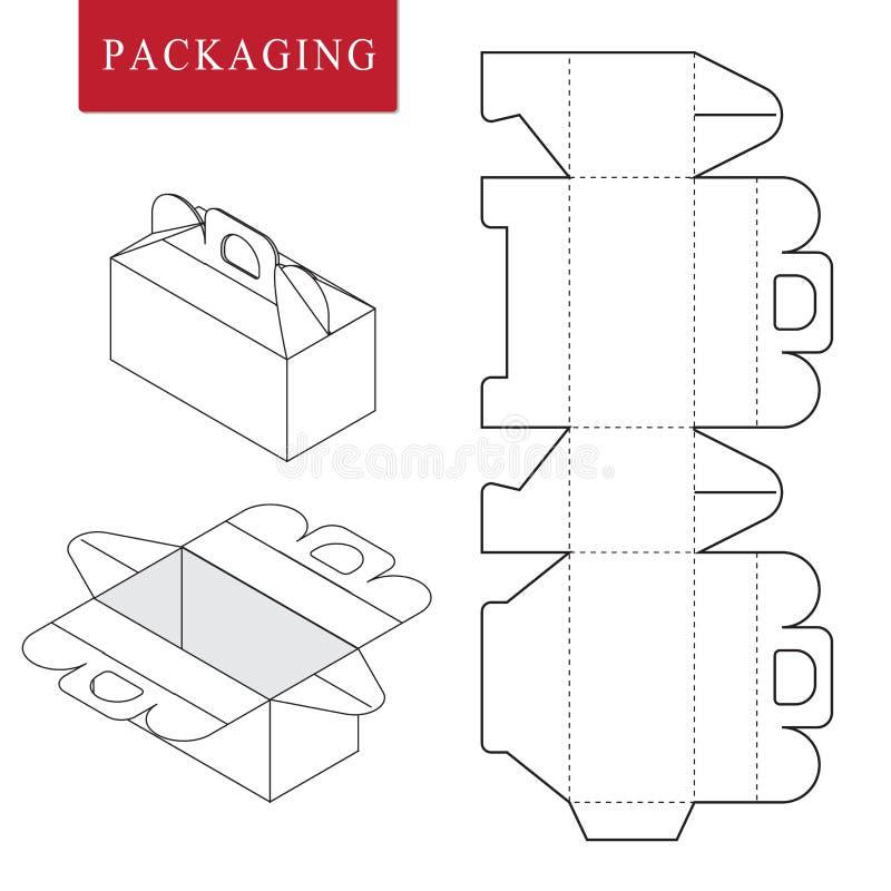 plantilla del paquete o ilustración del vector