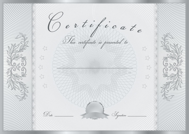 Plantilla del premio del certificado/del diploma. Modelo stock de ilustración