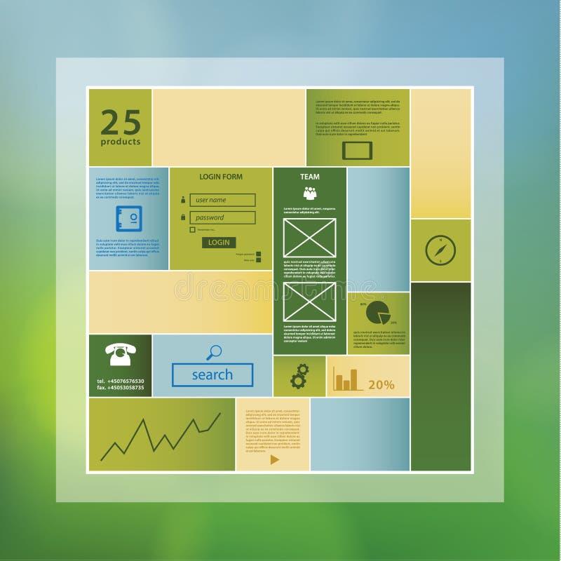 Plantilla del rectángulo del diseño moderno con el espacio para su contenido.  ilustración del vector