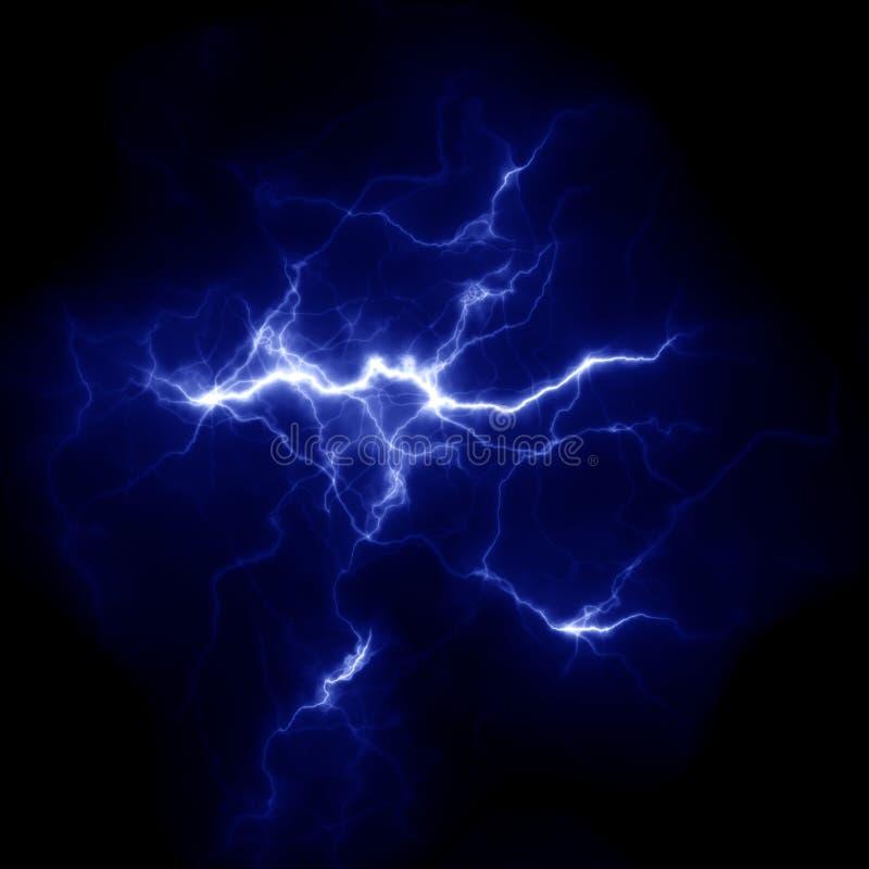 Plantilla del relámpago Rayo eléctrico en el cielo Imagen de la naturaleza fotografía de archivo libre de regalías