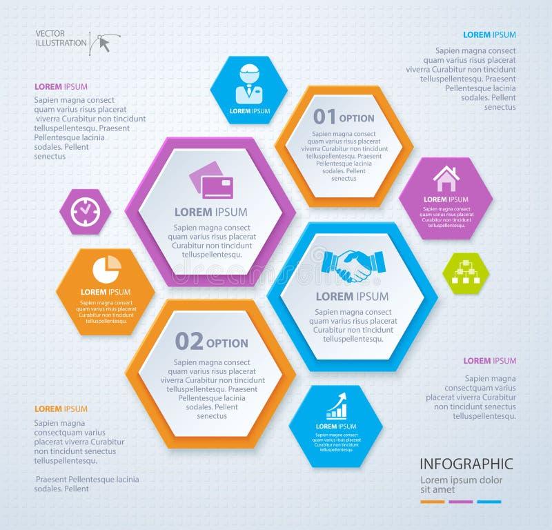 Plantilla del Rhombus del vector para infographic Concepto del asunto EPS 10 stock de ilustración