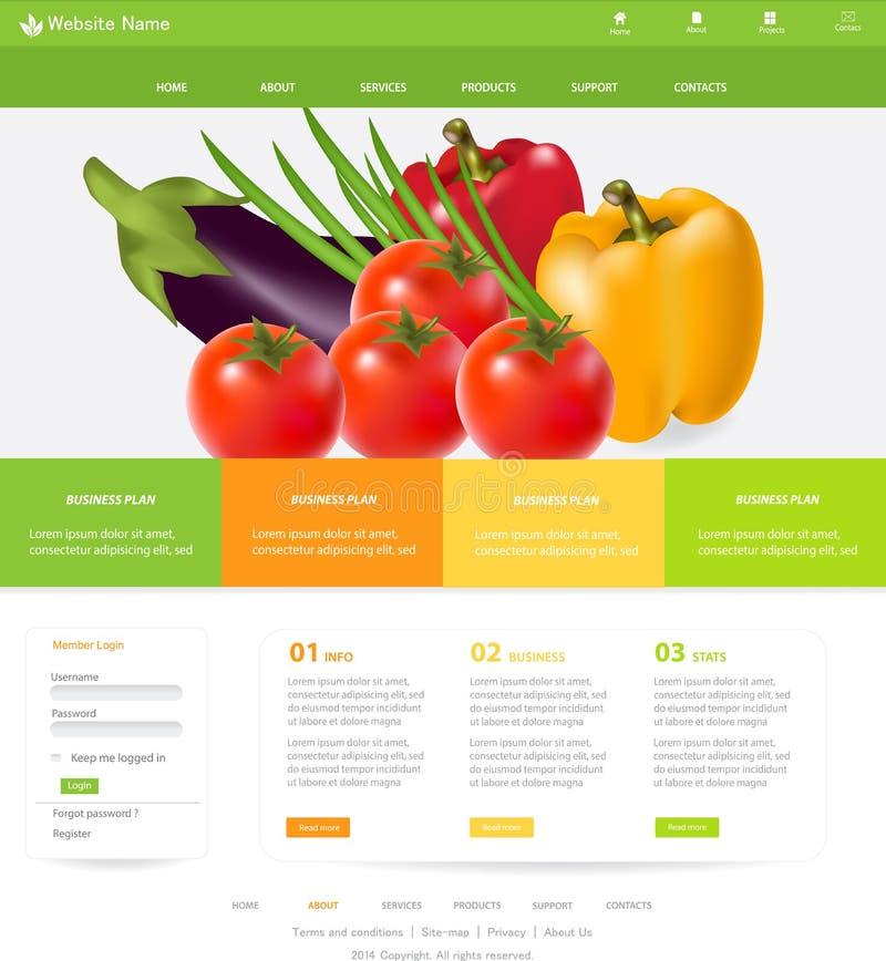 Plantilla del sitio web ilustración del vector