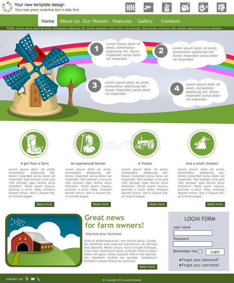 Plantilla 2 del sitio web stock de ilustración