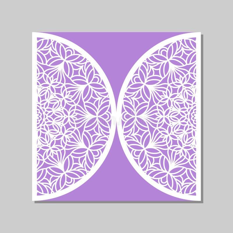 Plantilla del sobre con el ornamento del cordón de la mandala ilustración del vector