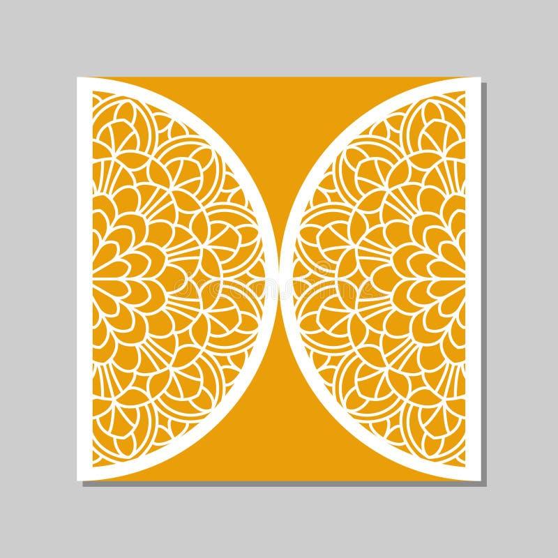 Plantilla del sobre con el ornamento del cordón de la mandala libre illustration