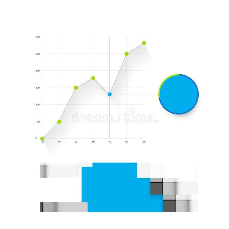 Plantilla del tablero de instrumentos de Infographic libre illustration