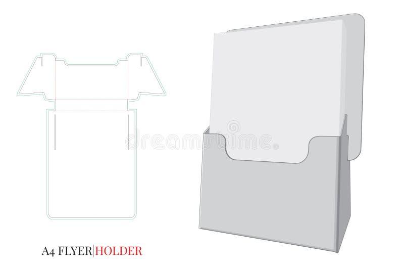Plantilla del tenedor del aviador El vector con cortado con tintas/el laser cortó capas ilustración del vector