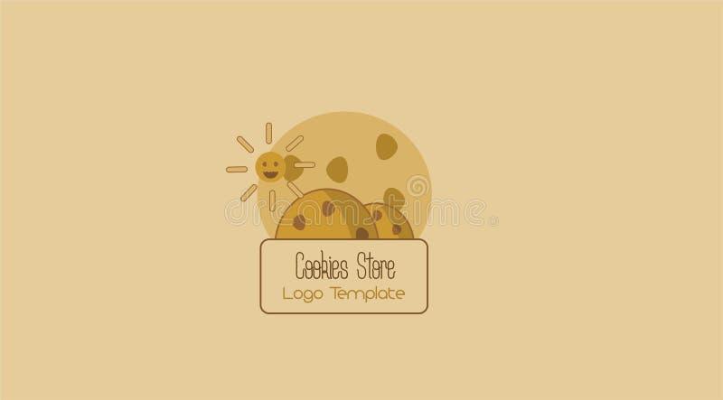 Plantilla del tienda-logotipo de las galletas imágenes de archivo libres de regalías