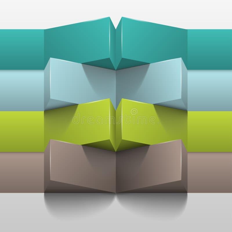 plantilla del vector 3d para el infographics del negocio stock de ilustración