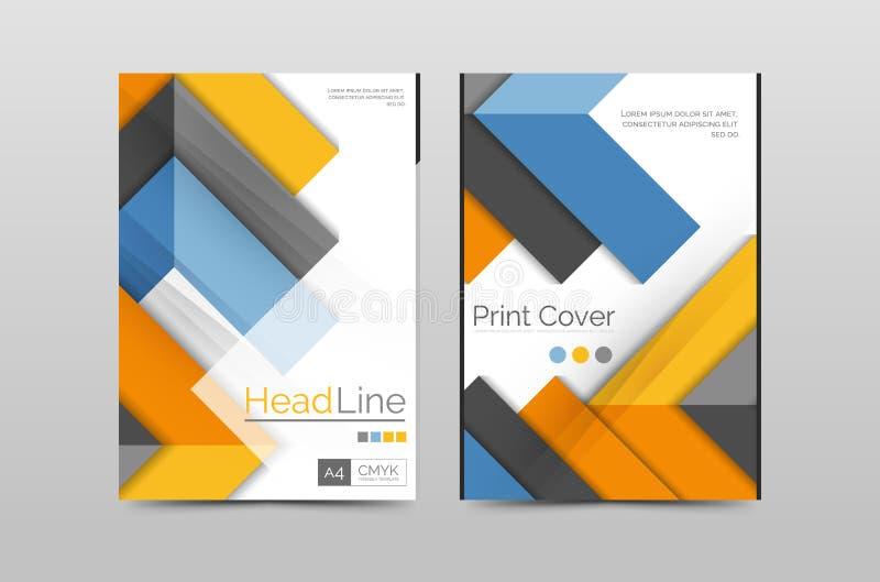 Plantilla del vector de la cubierta del folleto del informe anual del negocio stock de ilustración