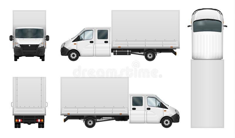 Plantilla del vector de la furgoneta de entrega en blanco libre illustration