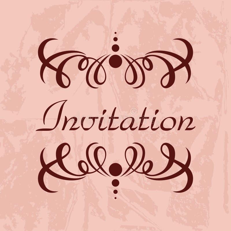 Plantilla del vector de la invitación stock de ilustración