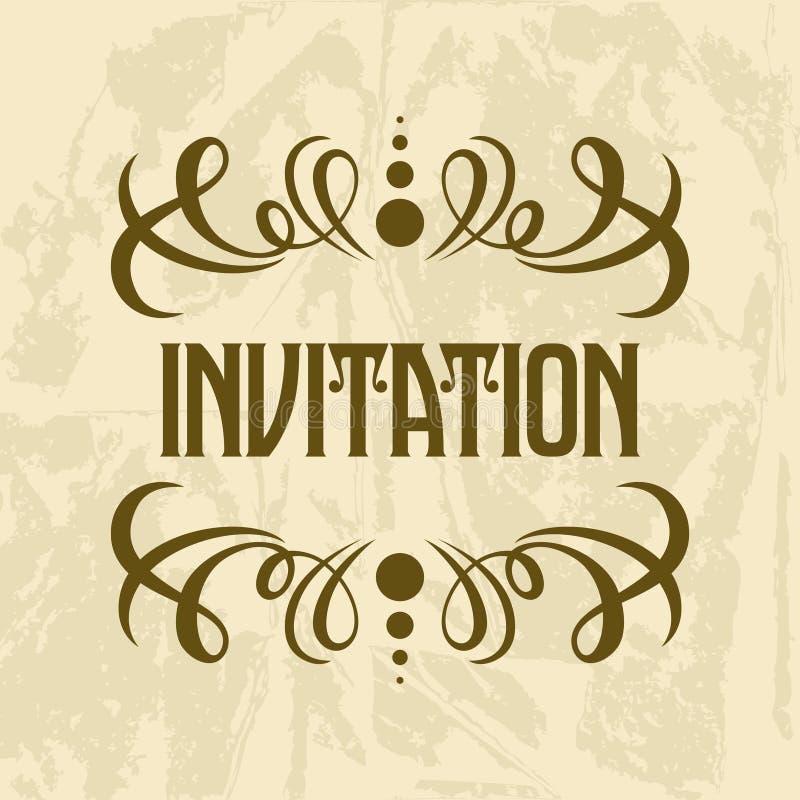 Plantilla del vector de la invitación ilustración del vector