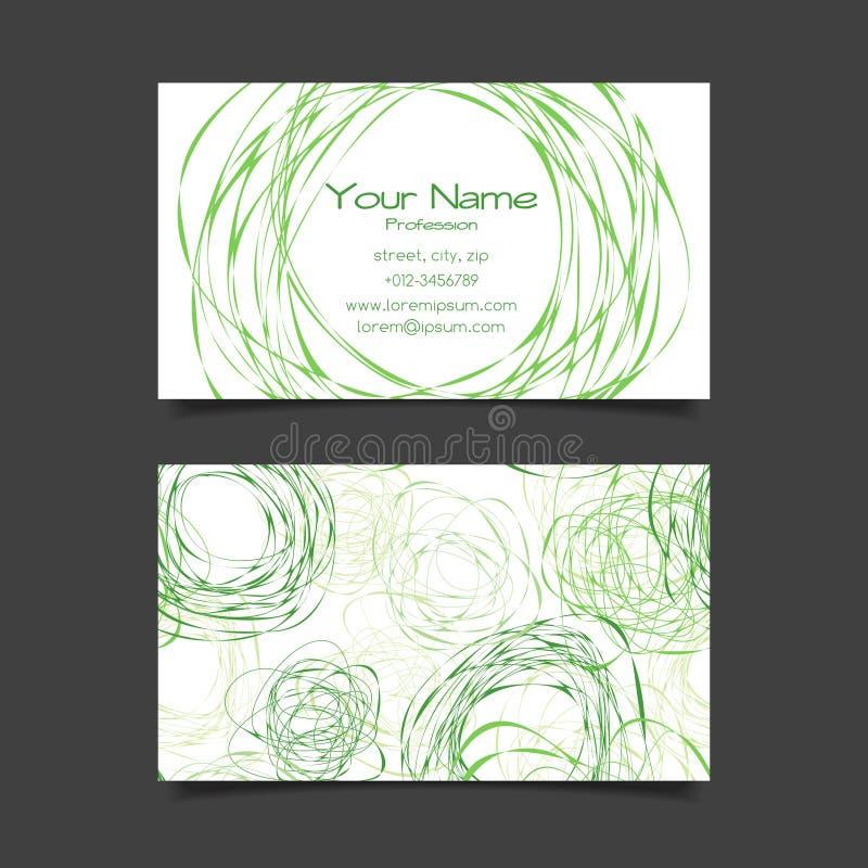 Plantilla del vector de la tarjeta de visita stock de ilustración