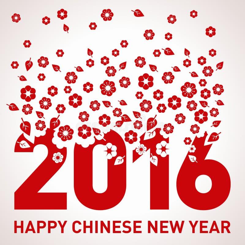 Plantilla del vector del Año Nuevo 2016 del mono fotos de archivo libres de regalías