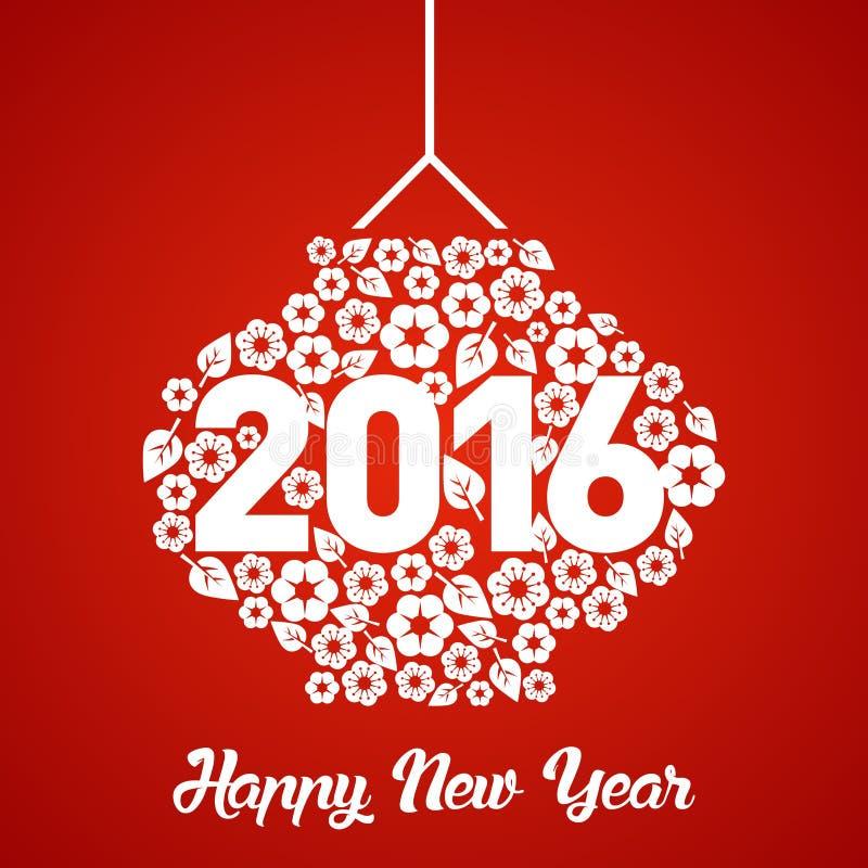 Plantilla del vector del Año Nuevo 2016 del mono foto de archivo