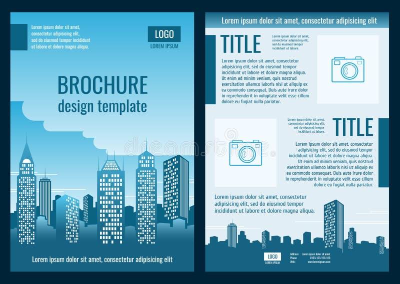 Plantilla del vector del folleto del negocio de la empresa de la construcción stock de ilustración