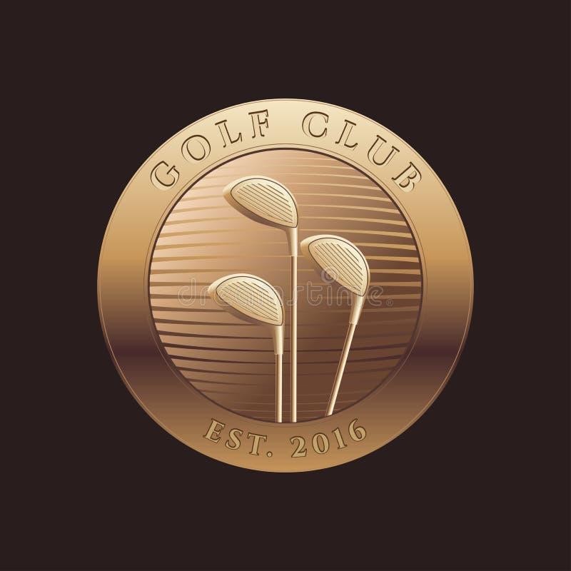 Plantilla del vector del logotipo del golf stock de ilustración