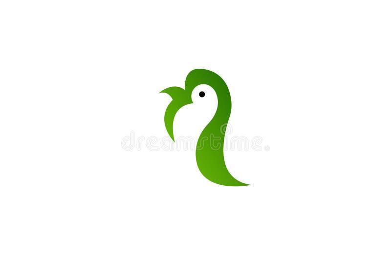 Plantilla del vector del dise?o del extracto del logotipo del p?jaro Icono lindo del concepto del logotipo del p?jaro foto de archivo