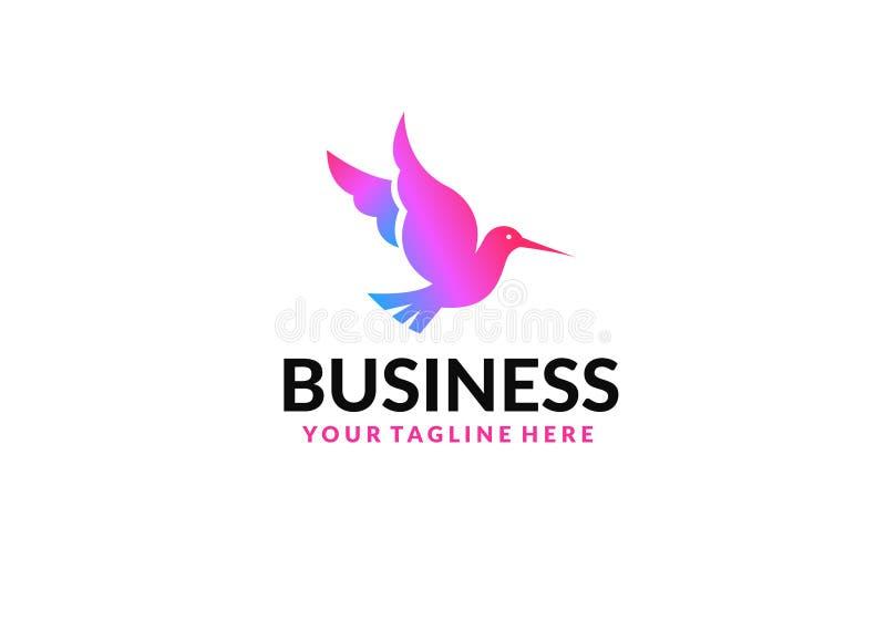 Plantilla del vector del dise?o del logotipo del extracto del p?jaro de vuelo Icono creativo del logotipo de la paloma colorida foto de archivo