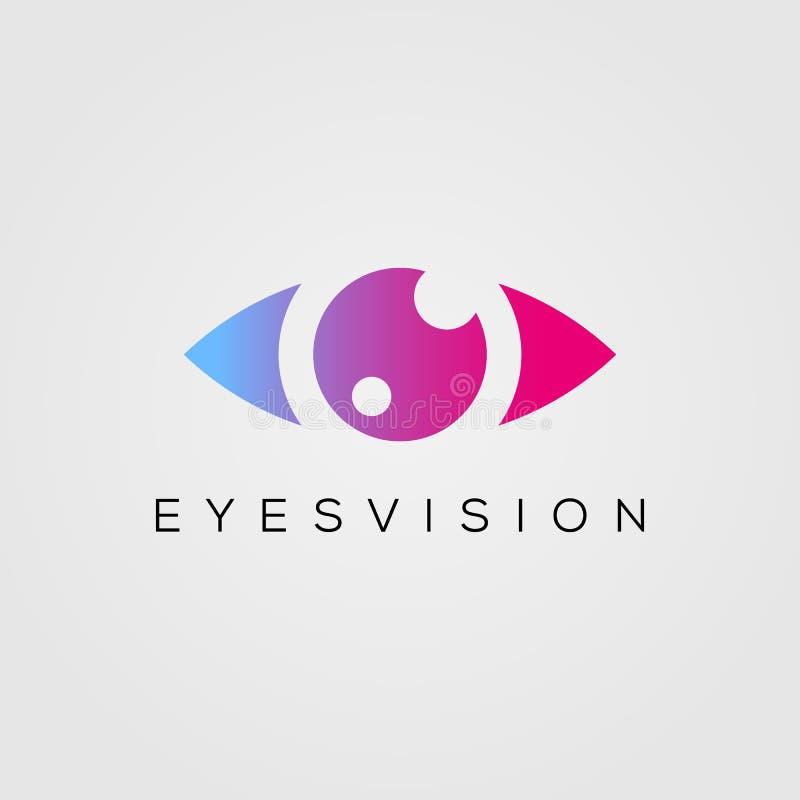 Plantilla del vector del dise?o del logotipo del ojo la belleza observa el icono de la visión Idea del concepto del logotipo de V stock de ilustración
