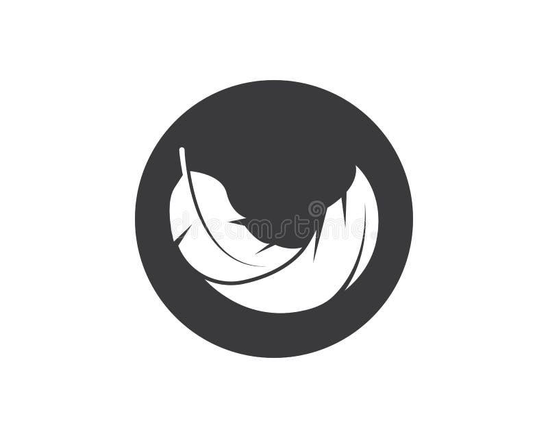 plantilla del vector del ejemplo del icono de la pluma stock de ilustración
