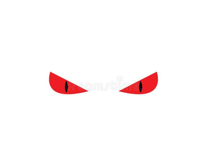 plantilla del vector del logotipo del icono del ojo del diablo libre illustration