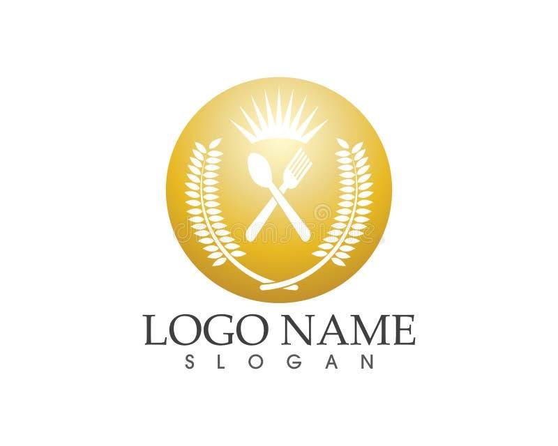 Plantilla del vector del logotipo del icono del restaurante libre illustration