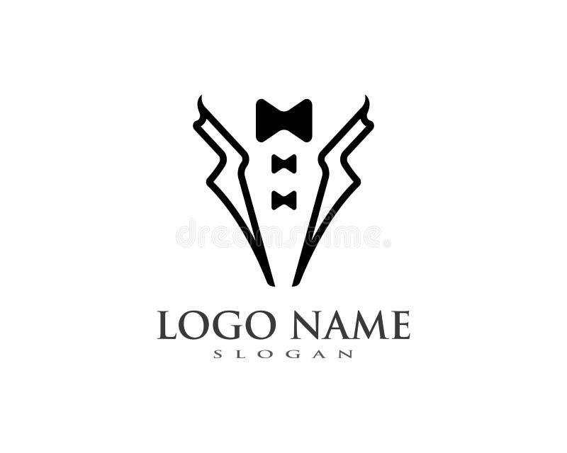 Plantilla del vector del logotipo del smoking libre illustration