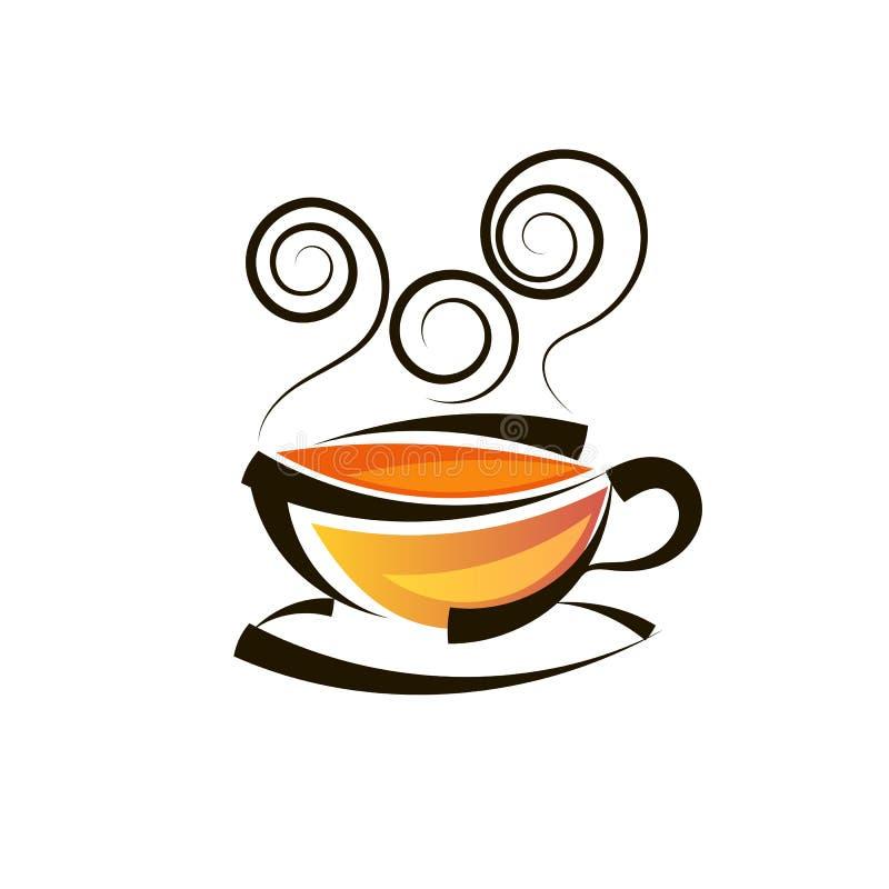 Plantilla del vector del logotipo del té del diseño del logotipo libre illustration