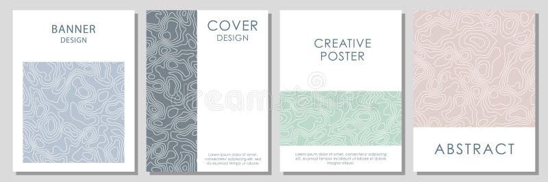 Plantilla del vector para las tarjetas de visita, invitaciones, tarjetas de regalo, carteles stock de ilustración